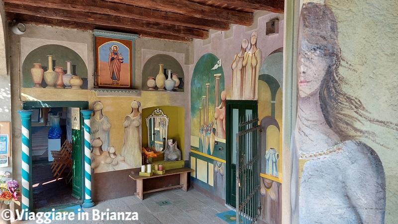 I dipinti nel Cortile degli Affreschi di Giussano